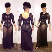 dress,kaoir,keyshia kaoir,see through,mesh,little black dress,maxi dress,bodycon,bandage dress,hat,black,keyshia kaoir sexy sheer black dress,sheer,long sleeve dress,bondagedress,bodysuit,black dress,mesh dress