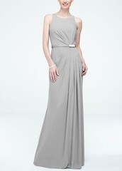 dress,prom dress,grey dress,evening dress