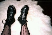 pants,tights,hearts tights,black,DrMartens