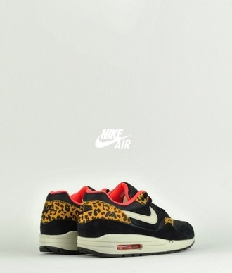 black shoes leopard print nike nike shoes air max