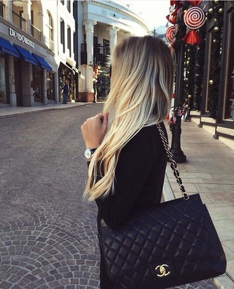 bag black chanel bag