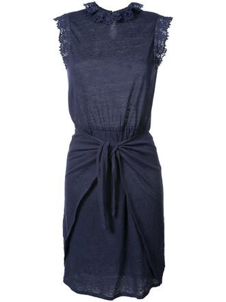 dress women drawstring blue