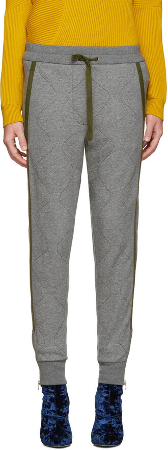 pants quilted grey