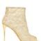 105mm lurex macramé lace peep-toe boots