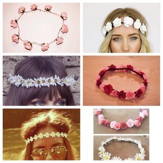 hair accessory flower crown headband daisy wedding accessories romantic