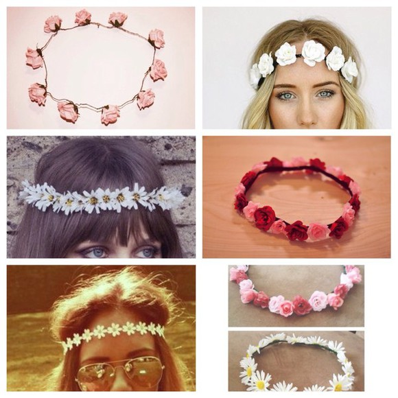 daisy hair accessories flower crown headband
