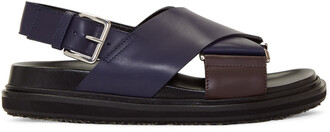 sandals navy burgundy shoes