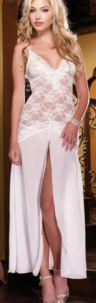 dress lingerie white gown lace