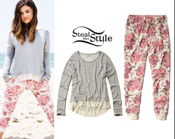 lucy hale tips lucy hale t-shirt flowers perrie edwards