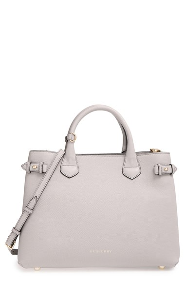 d88c50c351 Burberry 'Medium Banner' House Check Leather Tote | Nordstrom