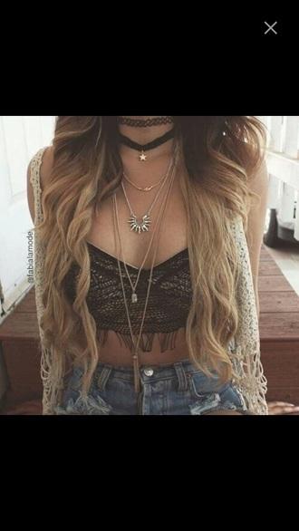 cardigan indie rock hipster hippie jewels vintage ootd short bralette top crop tops