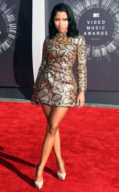 dress nicki minaj snake print mini dress nicki minaj dress vmas