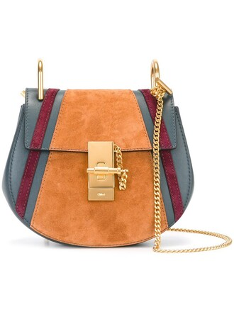 patchwork bag shoulder bag blue