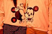 sweater,couple sweaters,minnie and mickey,matching couples,tumblr,minnie mouse,mickey mouse,jacket,shirt