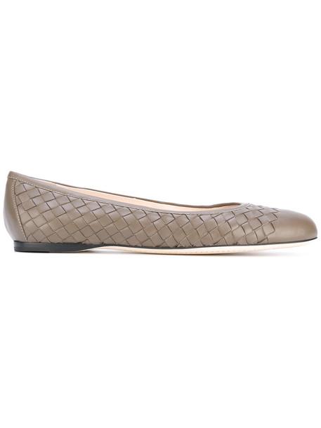 Bottega Veneta women leather nude shoes