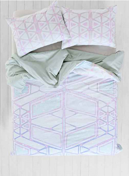 galaxy blouse duvet urban outfitters geometric bedding