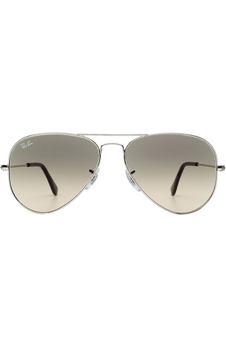 metal classic sunglasses aviator sunglasses silver