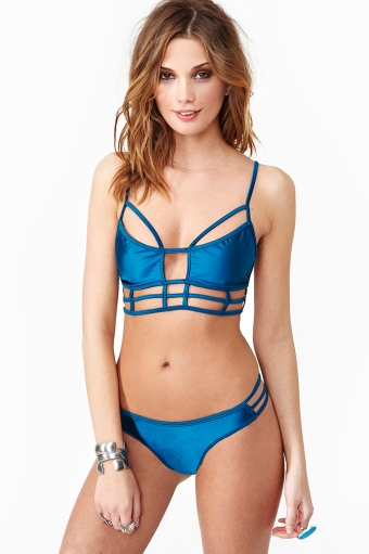 Azure in  clothes swimwear at nasty gal