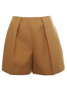 Carven | Wide Leg Shorts Mustard | Buy Online at Hervia.com