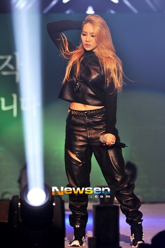 pants cl kpop leather spikes