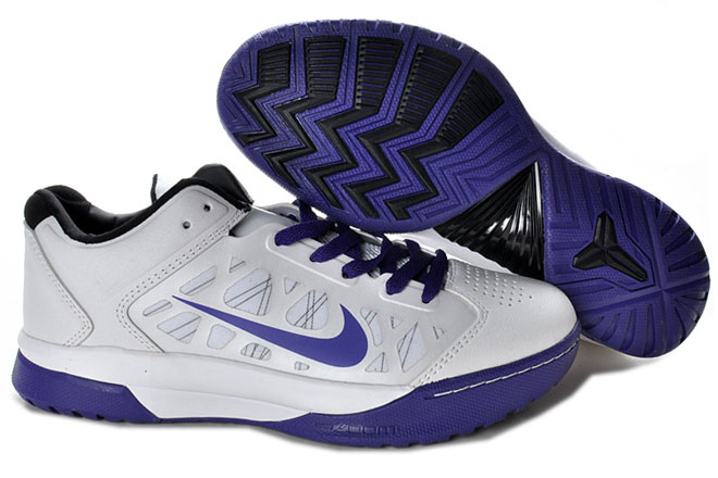 Nike Dream Season IV(4) White/Purple Kobe Bryant Basketball Shoes