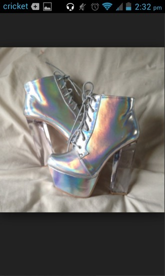 shoes holohraphic jeffrey campbell lita clear heels
