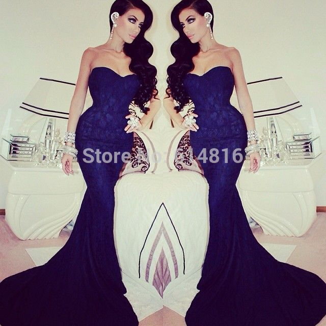 Aliexpress.com : Buy Simple Sexy Royal Blue Lace Prom Dresses Mermaid Sweetheart Off Shoulder Party Gown for Girls from Reliable gown wedding dress suppliers on Suzhou Babyonlinedress Co.,Ltd