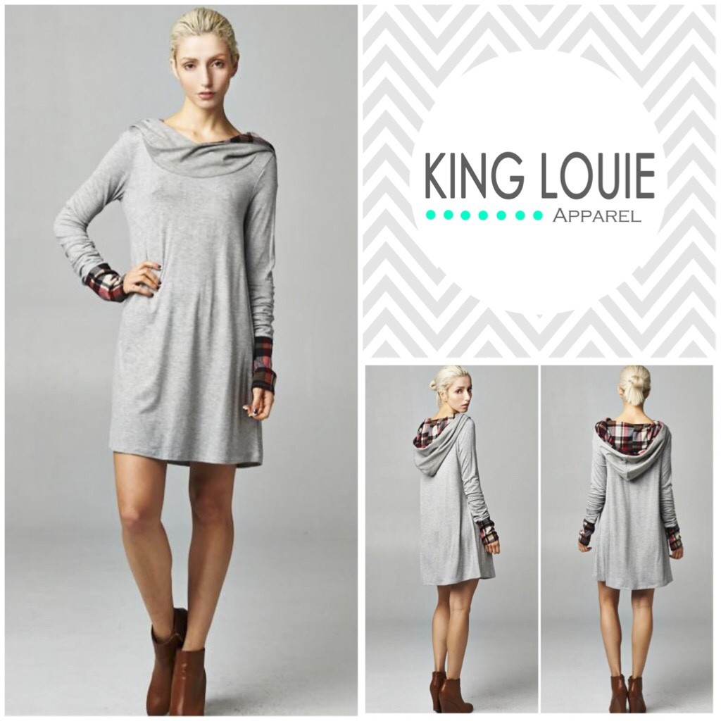 Plaid hooded tunic top – king louie apparel