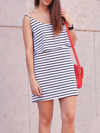 dress fashion style casual black and white trendy summer spring stripes zaful