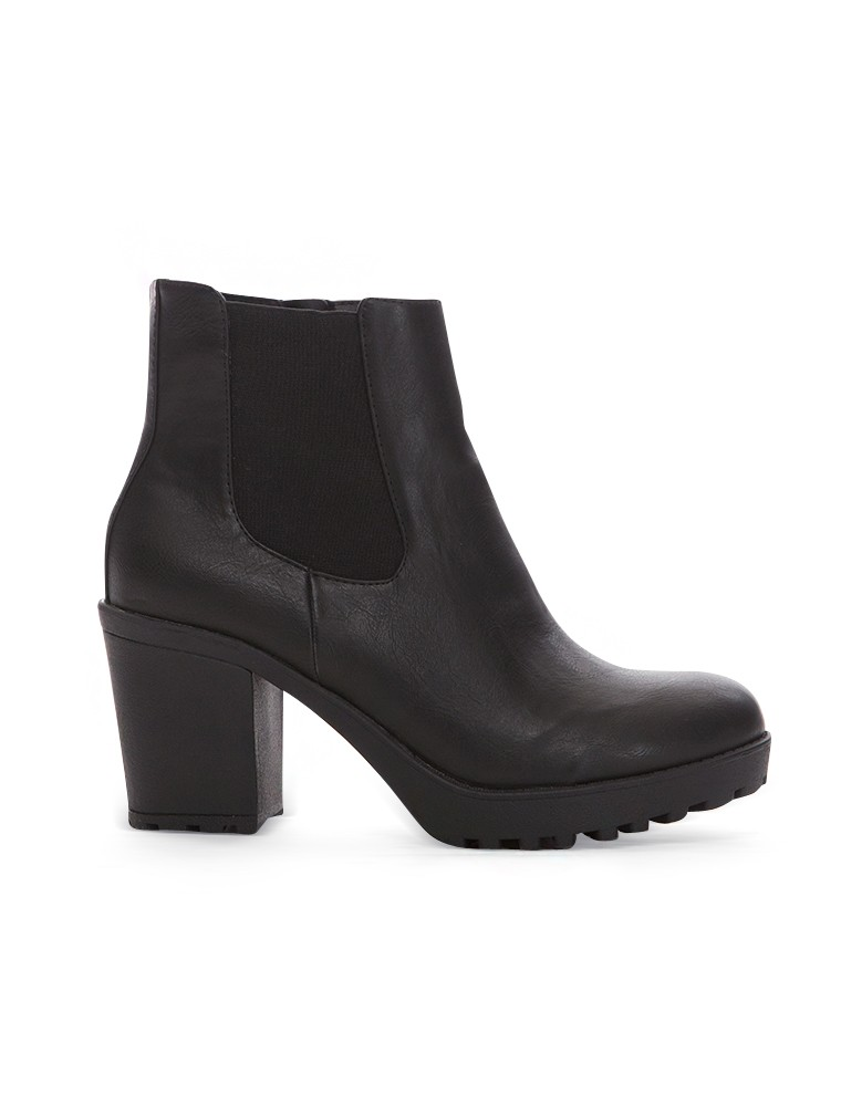 Black Platform Chunky Boots - Cheap Lug Sole Boots - $76