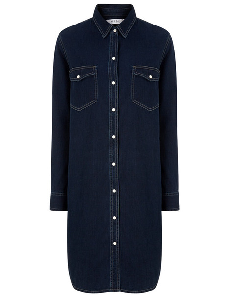 M.i.h Jeans dress shirt dress denim blue