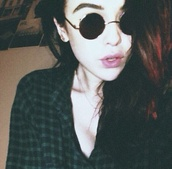 sunglasses,ozzy glasses,acacia brinley,shirt