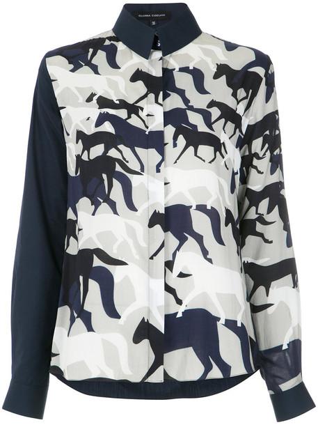 shirt printed shirt women cotton top