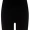 Black technical knit shorts