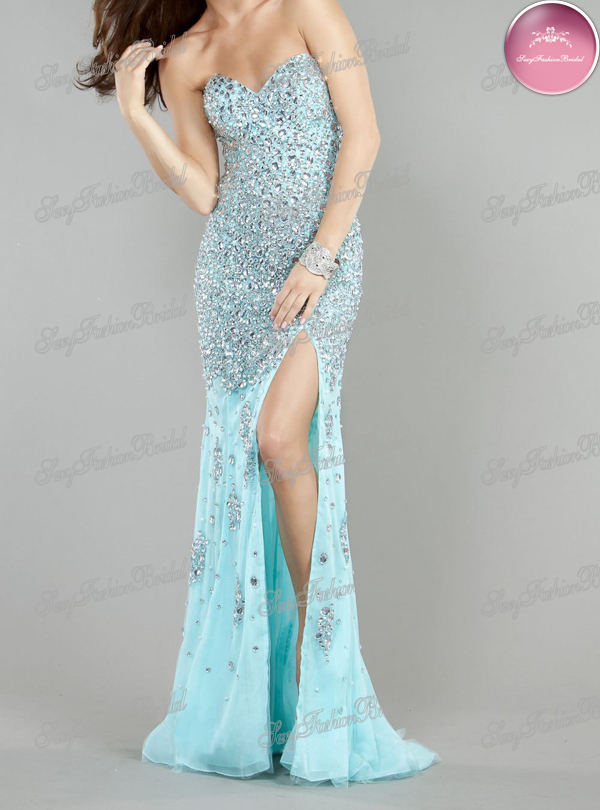 Aliexpress.com : Buy sweetheart heavy beaded diamond slit side high quality fashion prevalent prom dresses 2013 from Reliable dress sleeveless suppliers on sexyfashionbridal