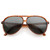 Retro 1980's Fashion Plastic Aviator Polarized Lens Sunglasses 6119