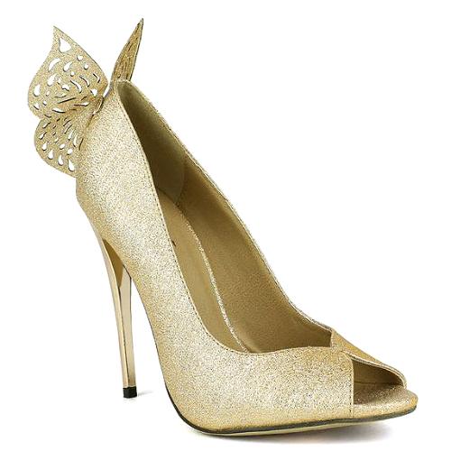 01 glitter peep toe bridal butterfly pump stiletto heels