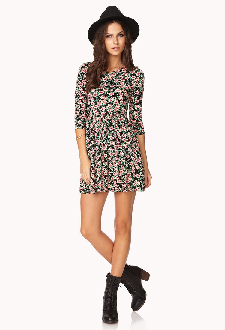Grunge Girl Floral Dress | FOREVER21 - 2000140356