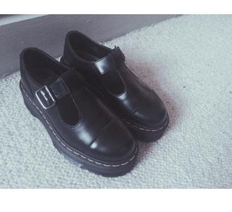 shoes black docs halbschuh drmartens