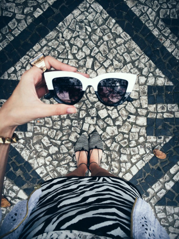 fashion coolture blogger sunglasses zebra print