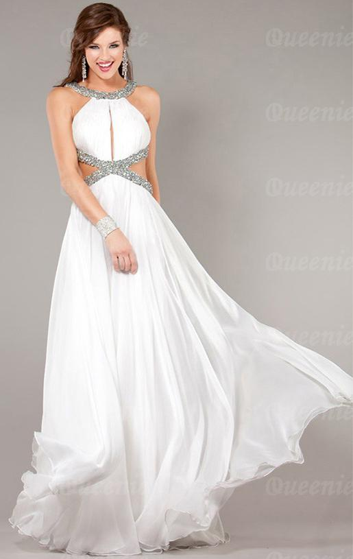 White Formal Dress LFNAF0112-Formal Dresses Online