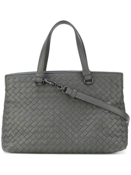Bottega Veneta - intrecciato tote bag - women - Lamb Skin - One Size, Grey, Lamb Skin