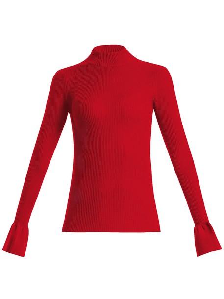 KHAITE sweater wool knit red