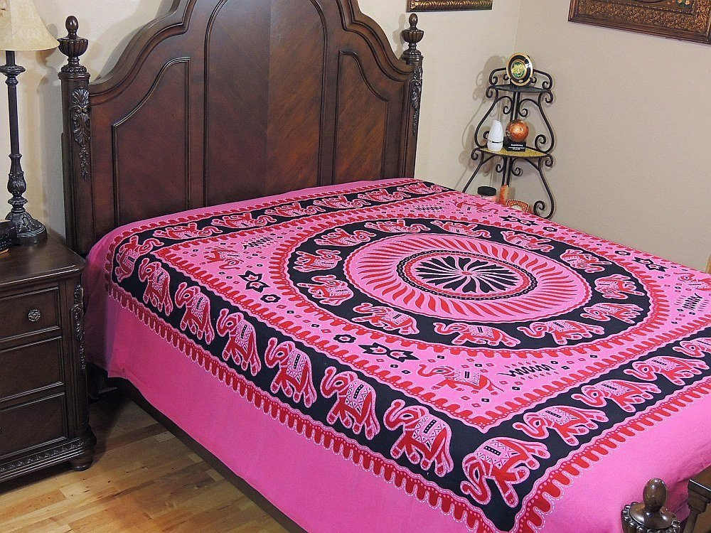 Amazon.com - Indian Style Duvet Cover Reversible Elephant Ethnic Cotton Luxury Comforter -