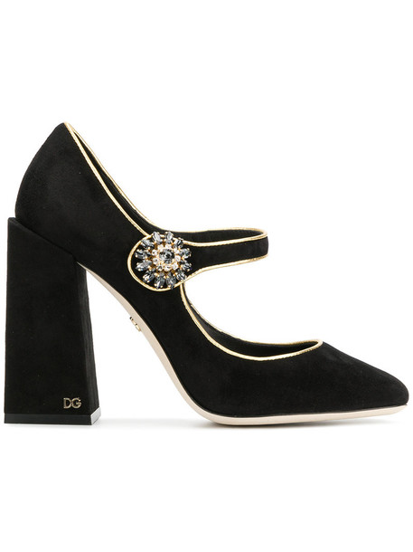 Dolce & Gabbana women pumps leather black shoes