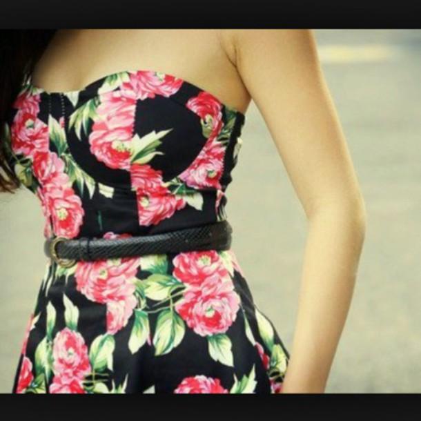 dress floral dress sexy dress short