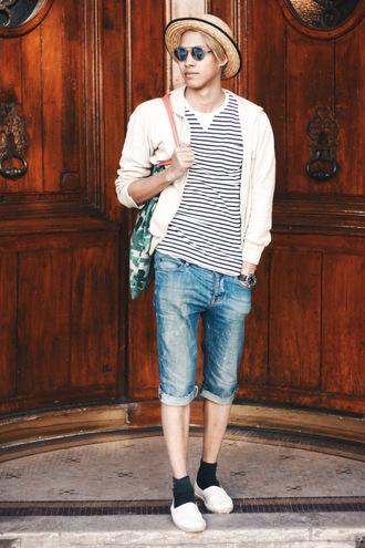 mahayanna blogger top shorts shoes menswear hipster menswear