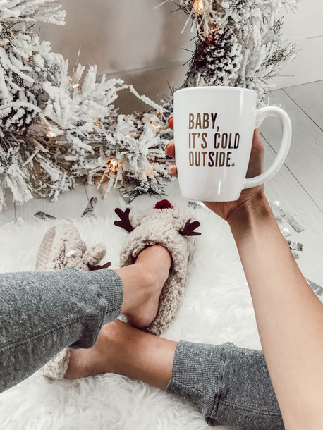 shoes tumblr slippers slip on shoes slide shoes holiday season holiday gift christmas cup mug quote on it