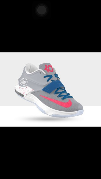 shoes blue pink and grey kd 7 s kevin durant 7 wheretoget