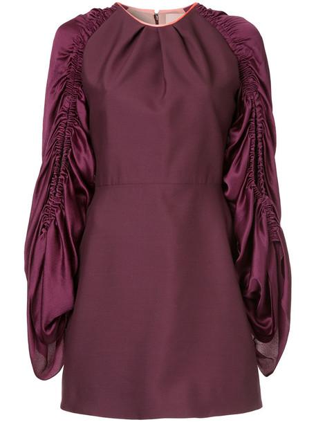 Roksanda dress mini dress mini women mohair silk purple pink